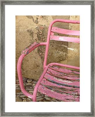 Pink Chair Framed Print by Lainie Wrightson