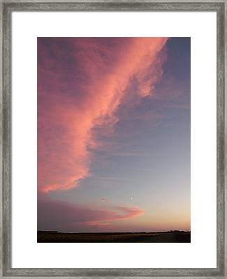 Pink Cloud Fascination Framed Print by Brian  Maloney