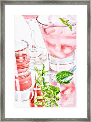 Pink Cocktails Framed Print by HD Connelly