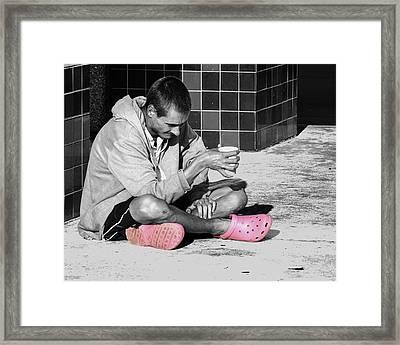 Pink Crocks Framed Print by Don Durfee