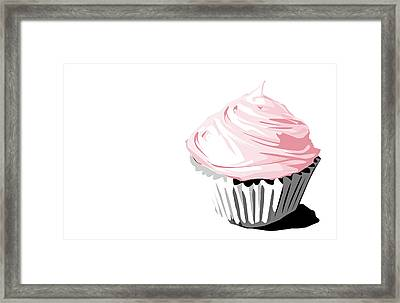 Pink Cupcake Framed Print by Jay Reed