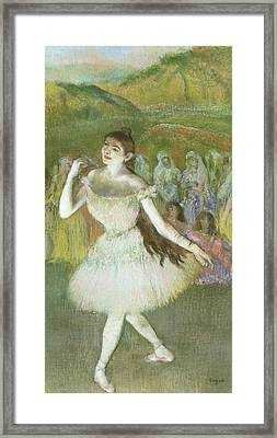 Pink Dancer  Framed Print by Edgar Degas