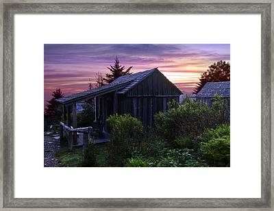 Pink Dawn Framed Print by Debra and Dave Vanderlaan