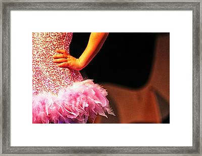 Pink Feather Skirt Framed Print by Lauri Novak