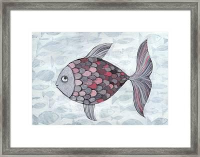 Pink Fish Framed Print by Georgiana Chitac