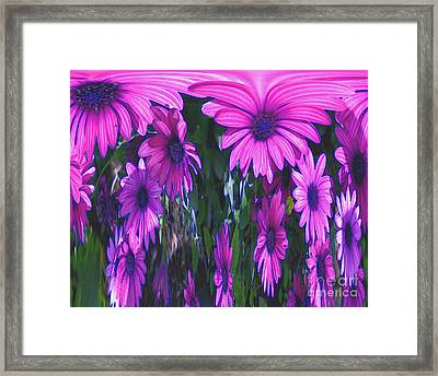 Pink Flower Power Framed Print