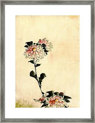 Pink Flowers 1840 Framed Print by Padre Art