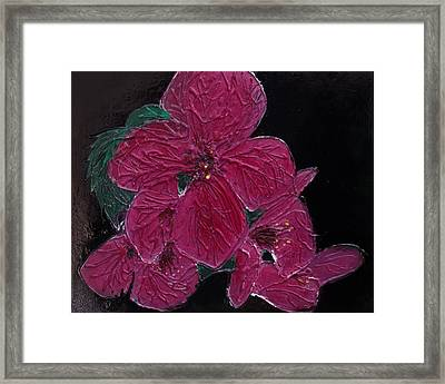 Pink Flowers Framed Print by Angela Stout