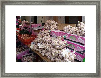Pink Garlic Framed Print by Carla Parris