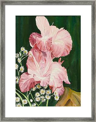 Pink Glad Framed Print by Judy Loper