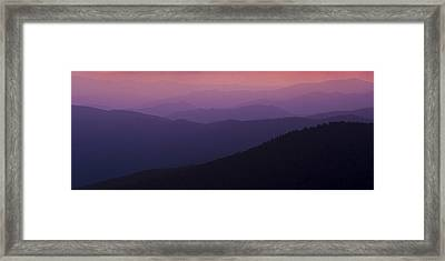 Pink In Layers Framed Print by Ryan Heffron