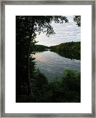 Pink Lake At Dawn Framed Print