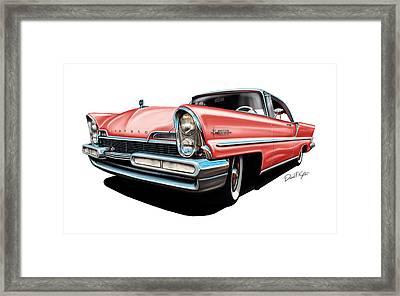 Pink Lincoln Premier  Framed Print by David Kyte