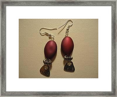 Pink Love Earrings Framed Print by Jenna Green