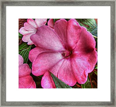 Pink Love Framed Print by Jeanean Gendron
