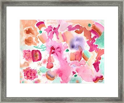 Pink Love Framed Print by Paula Ayers