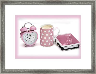 Pink Monday Framed Print