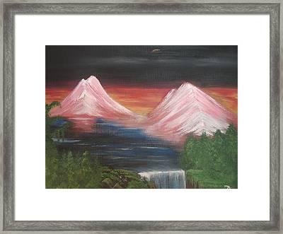 Pink Mountains Framed Print by Melanie Blankenship