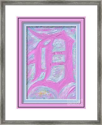 Pink Old English D Framed Framed Print by Donald Pavlica
