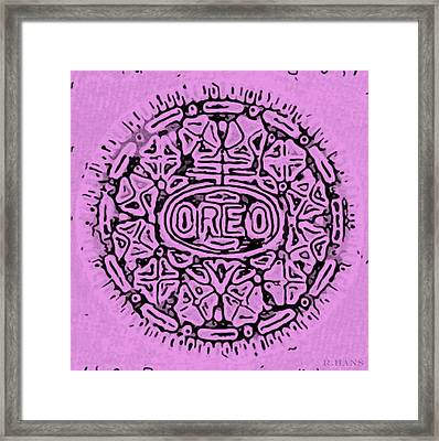 Pink Oreo Framed Print by Rob Hans