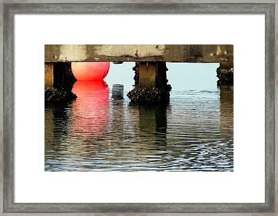 Pink Pearl Pilings Framed Print by Karen Wiles