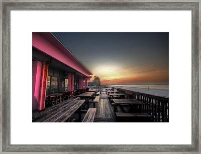 Pink Pony Sunrise Framed Print by Michael Thomas
