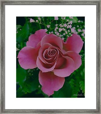 Pink Princess  Framed Print by Debra     Vatalaro