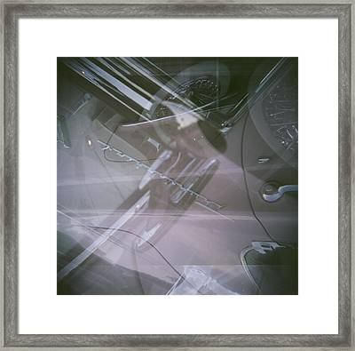 Framed Print featuring the photograph Pink Retro Angle Attack by Carolina Liechtenstein
