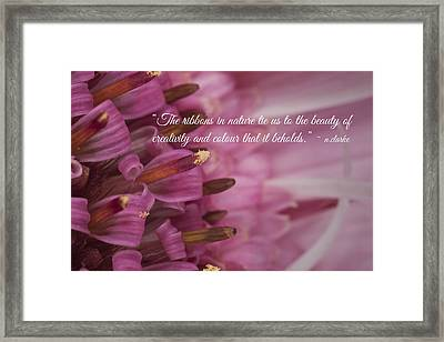 Pink Ribbons Framed Print
