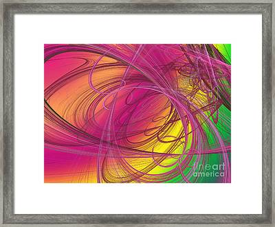 Pink Ribbons Over The Rainbow Framed Print