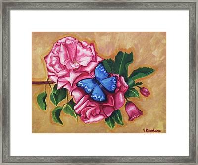 Pink Rose Petals Framed Print