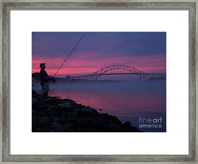 Pink Skies In The Morn Framed Print by John Doble