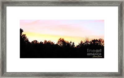 Pink Skies Framed Print by Lorraine Louwerse