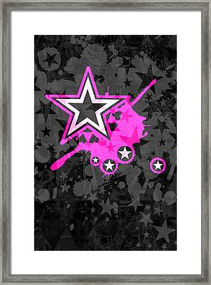Pink Star 3 Of 6 Framed Print