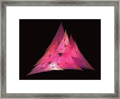 Pink Triangles Framed Print by Lynn Bolt