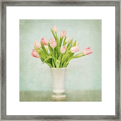 Framed Print featuring the photograph Pink Tulips by Mary Hershberger