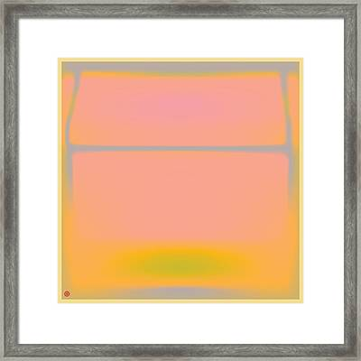 Pink Yellow And Grey Framed Print
