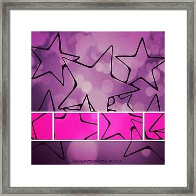 #pinkstars #lovepink #stars #shimmer Framed Print