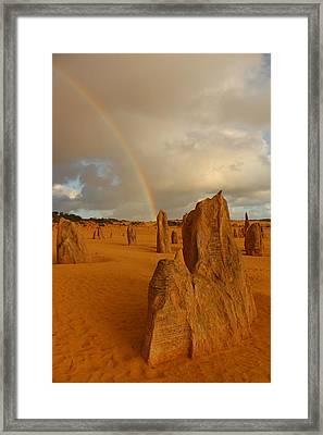 Pinnacle Rainbow Framed Print