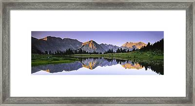 Pioneer Basin Morning Panorama Framed Print by Buck Forester