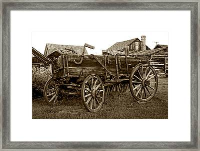 Pioneer Freight Wagon - Nevada City Ghost Town Framed Print