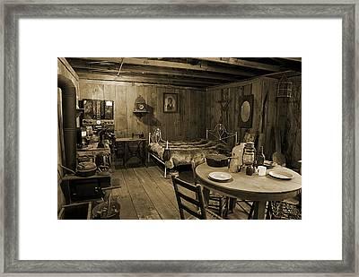 Pioneer Homestead Framed Print by Melany Sarafis