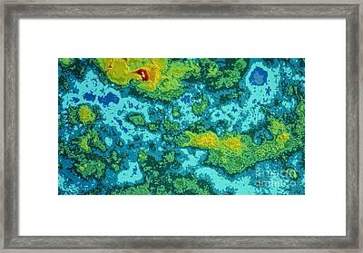 Pioneer-venus Radar Map Of The Surface Framed Print by NASA / Science Source