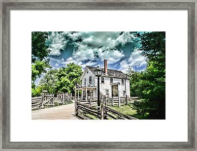 Pioneer Village Framed Print by Jana Smith