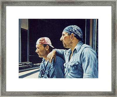 Pipefitters Framed Print by James Guentner