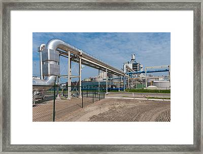 Pipeline Construction Framed Print by Hans Engbers