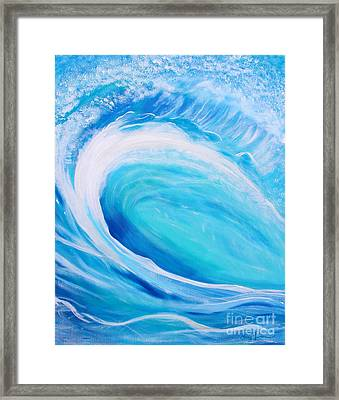 Framed Print featuring the painting Pipeline by Stacey Zimmerman