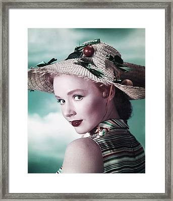 Piper Laurie, Ca. Early 1950s Framed Print by Everett