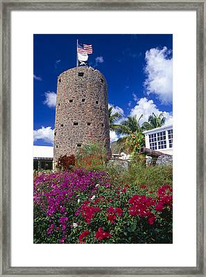 Pirate Castle Tower Framed Print by George Oze