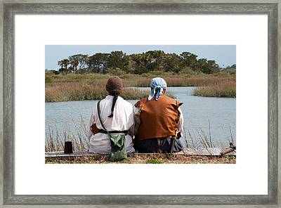 Pirate Couple Framed Print by Kenneth Albin